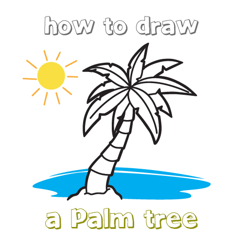 500x500 Simple Drawing Of A Palm Tree