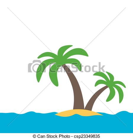 450x470 Simple Symbol Of A Tropical Island With White Background Vectors