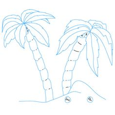 236x236 Palm Trees How To Draw A Palm Tree, Step By Step, Trees, Pop