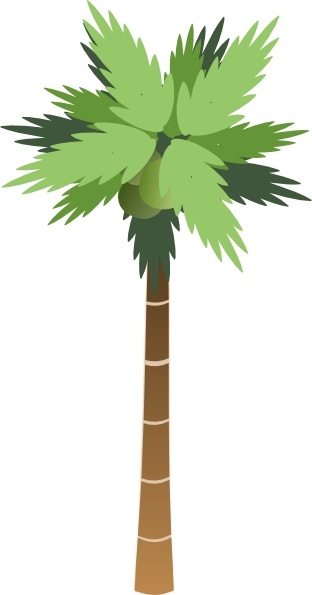 312x595 Palm Tree Clip Art Free Vector In Open Office Drawing Svg ( Svg