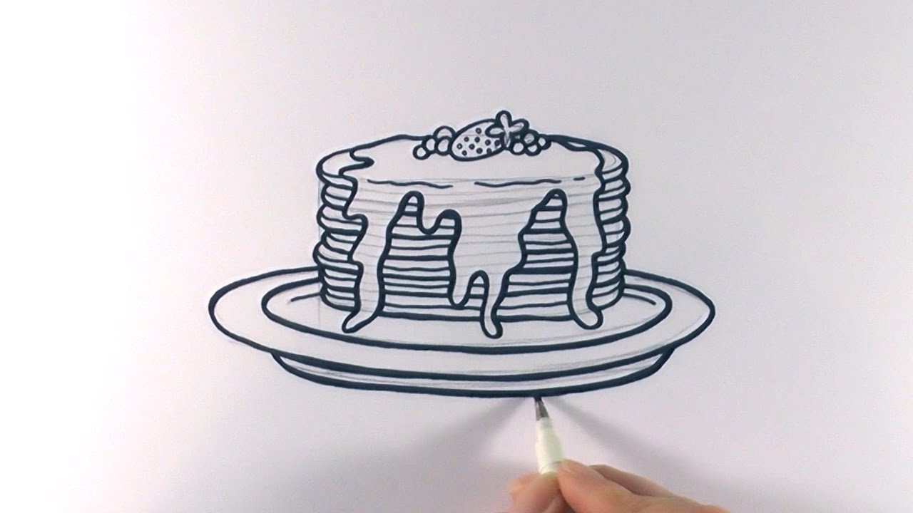 1280x720 How To Draw A Cartoon Stack Of Pancakes