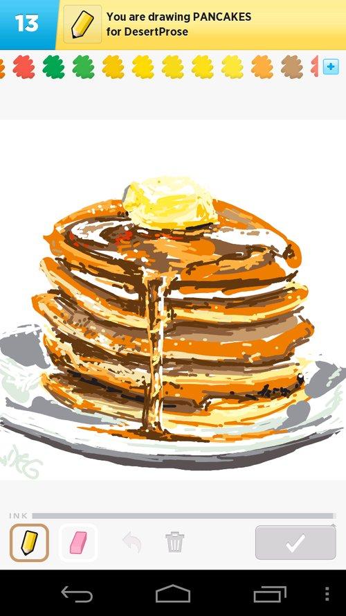 500x889 Pancakes Drawings
