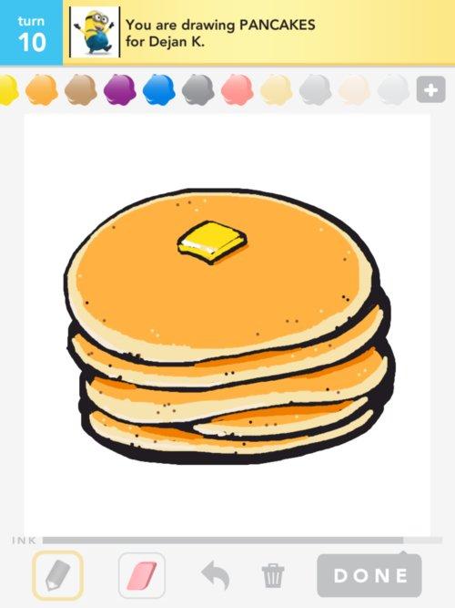 500x667 Pancakes Drawings