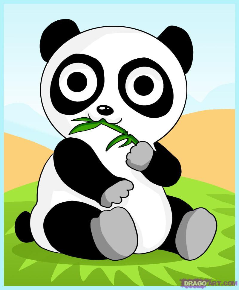 800x969 How To Draw A Cartoon Panda Bear, Step By Step, Anime Animals