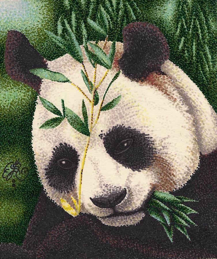 753x900 Panda Bear Drawing By Scarlett Royal