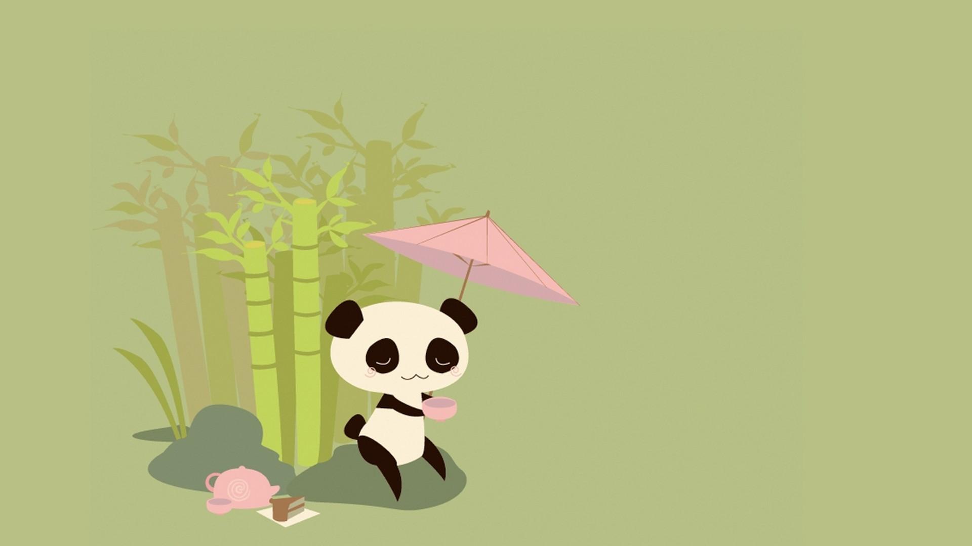 1920x1080 Cute Panda Drawing Wallpaper