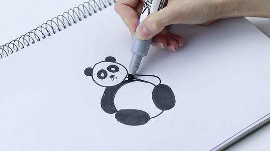 550x309 How to Draw a Panda (with Pictures)