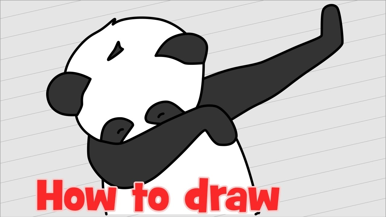 1280x720 How to draw Panda dab step by step