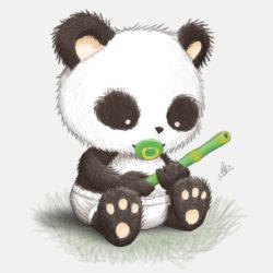 250x250 Panda Drawing, Pencil, Sketch, Colorful, Realistic Art Images