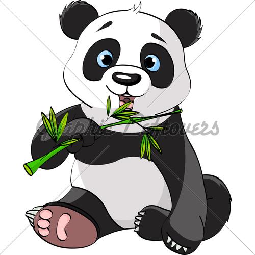 500x500 Drawn Bamboo Panda Bamboo
