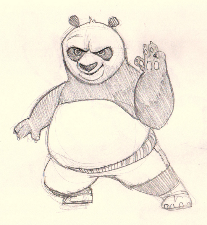 Panda Drawing Cartoon At Getdrawingscom Free For Personal