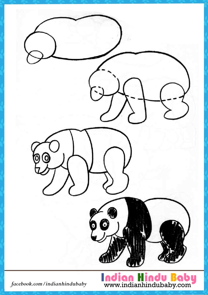 724x1024 Panda Step By Step Drawing For Kids Indian Hindu Baby