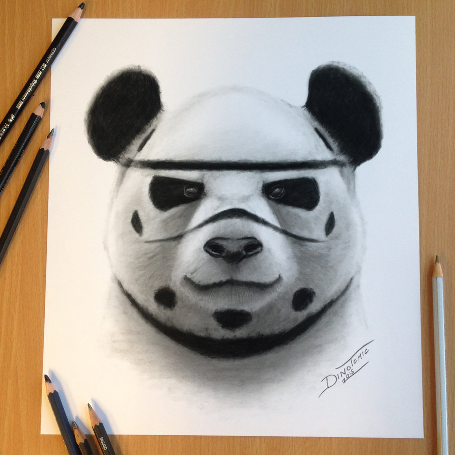 894x894 Stormtrooper Panda Drawing By Atomiccircus