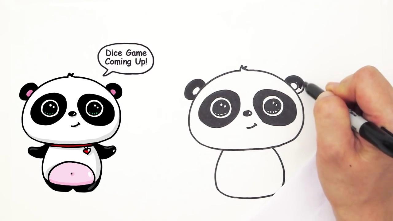 1280x720 Cute Drawings Of Pandas How To Draw A Cute Panda Easy