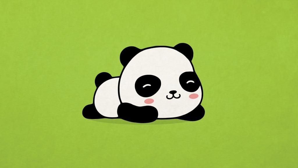 1024x576 Cute Panda Drawing