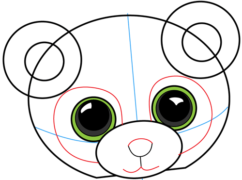 500x371 How To Draw Stuffed Baby Pandas With Easy Step By Step Drawing