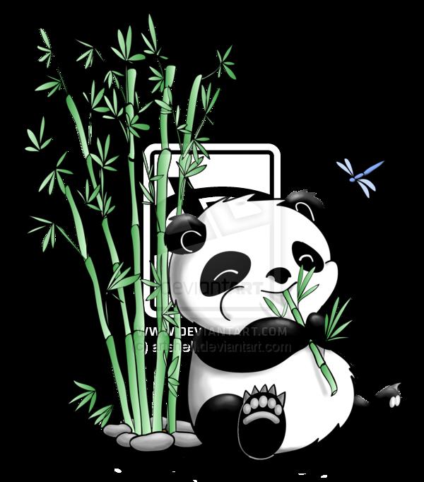 600x682 Panda Clipart Bamboo Drawing