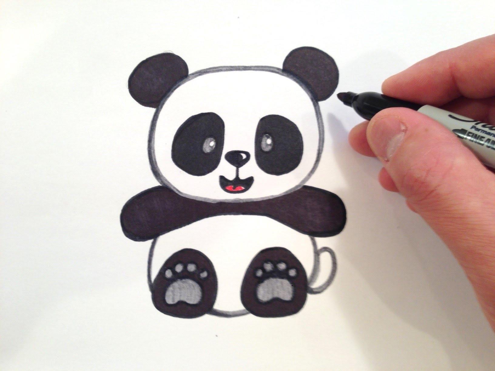 1632x1224 Cute Panda Bear Drawing How To Draw A Cute Panda Bear