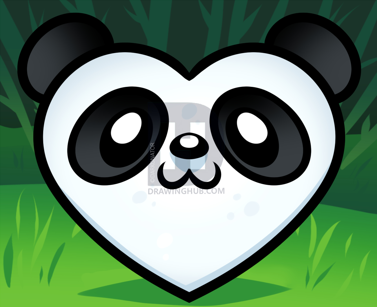 1301x1060 How To Draw A Pandas Face