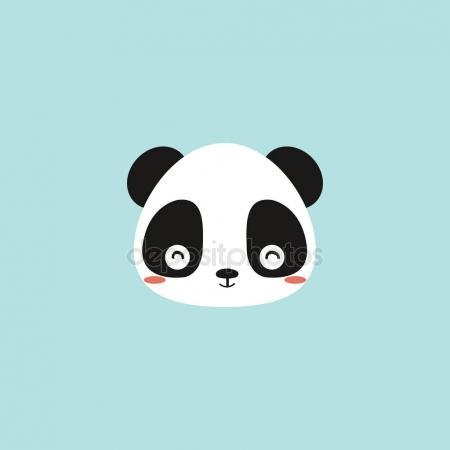 450x450 Vector Drawing Cute Panda Face Stock Vector Wenpei