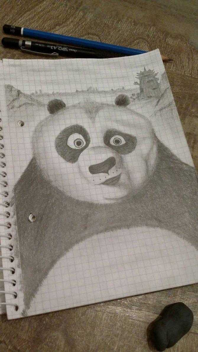 670x1191 Kung Fu Panda Pencil Scketch By Dimitris24sta23