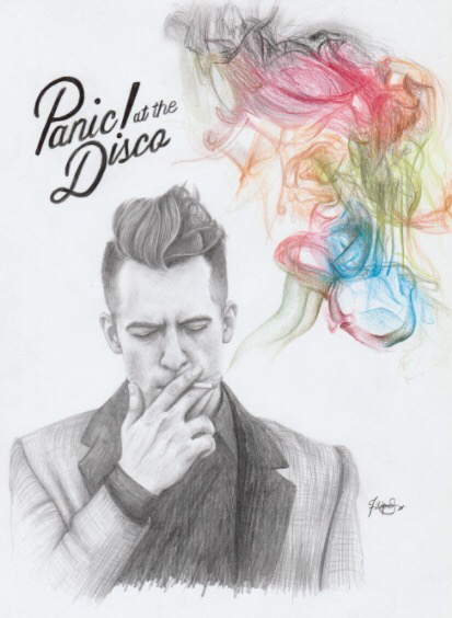 413x564 graphitecolored pencil drawing of panic