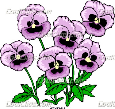 375x354 Pansy Drawing Clip Art