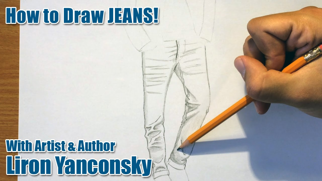 1280x720 How To Draw Jeans!