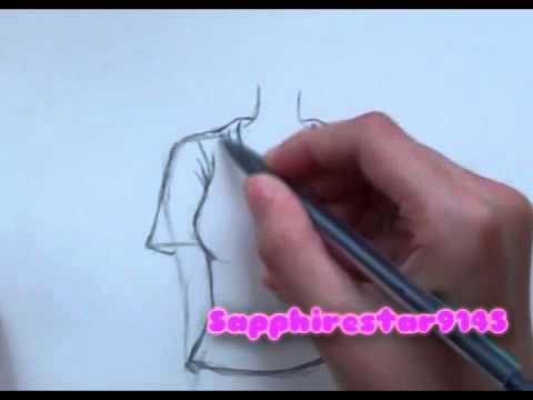 480x360 How To Draw Manga Clothing T Shirt, Pants,skirt, Dress Part 12