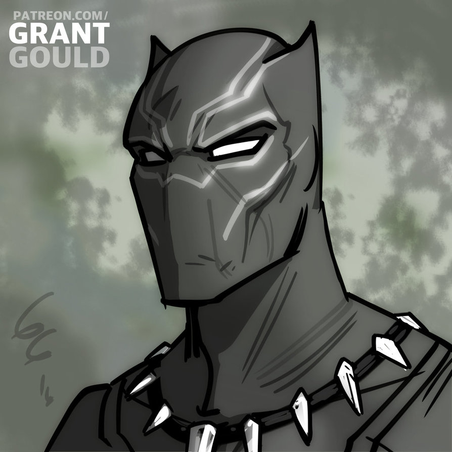 894x894 Black Panther Drawing Black Panthergrantgoboom