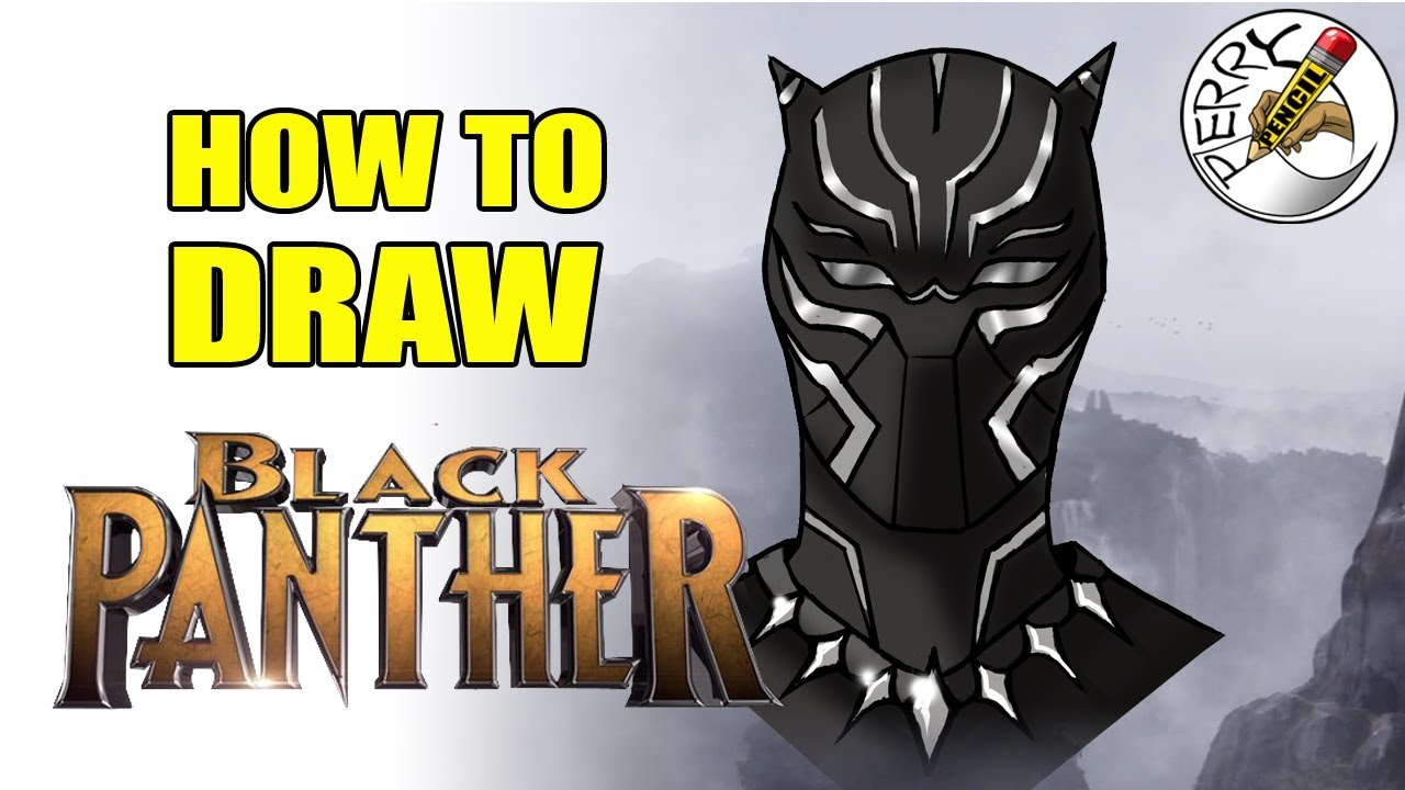 1280x720 How To Draw Black Panther Face