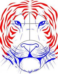 236x302 Line Drawing Of Tiger Face Gift Ideas Tiger Face