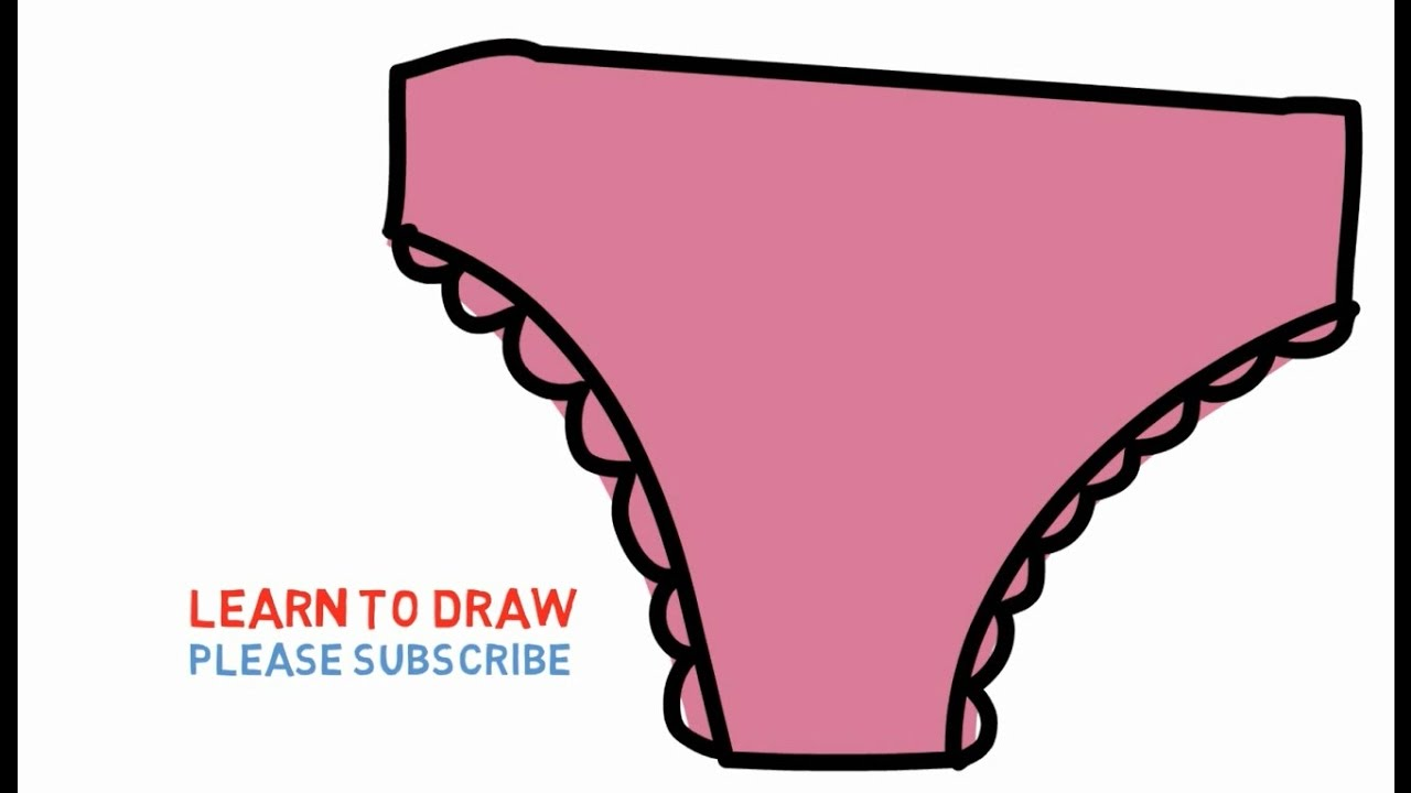 1280x720 Easy Step For Kids How To Draw A Panties