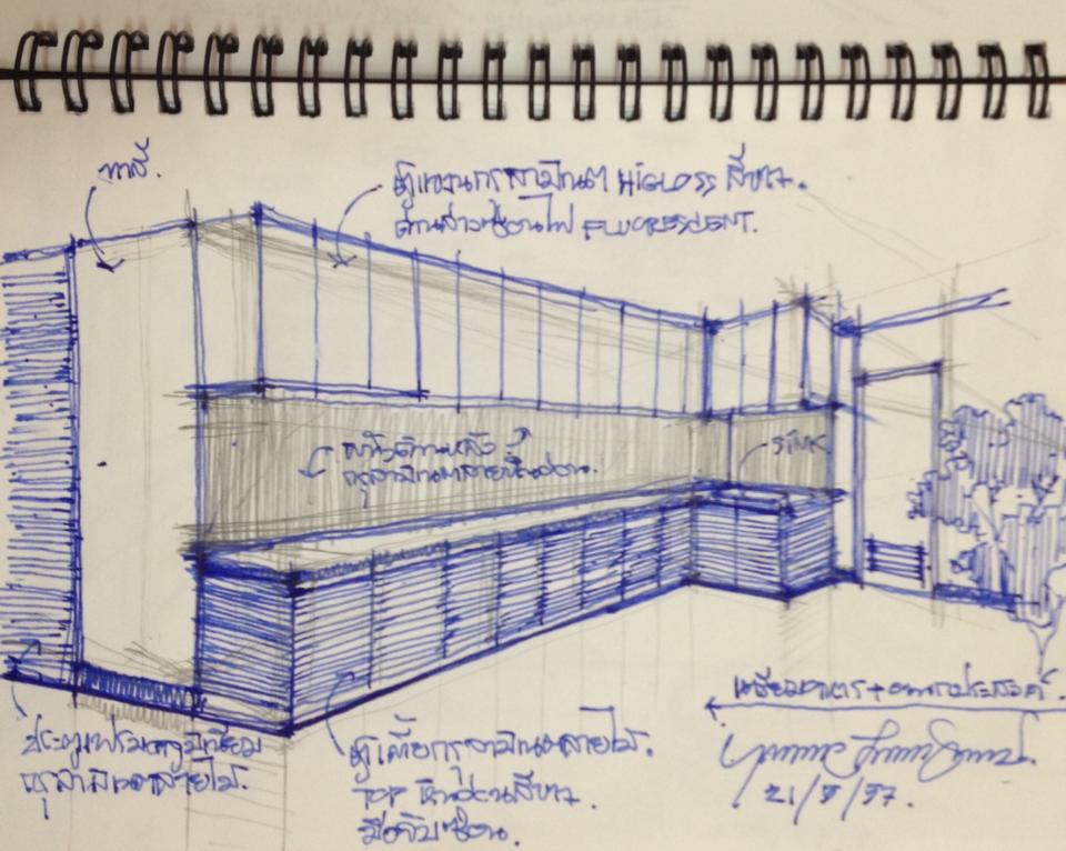 960x766 Sketch Design Pantry Modern Natural Style Home Office
