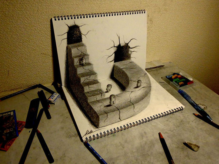 750x563 3d Pencil Drawings