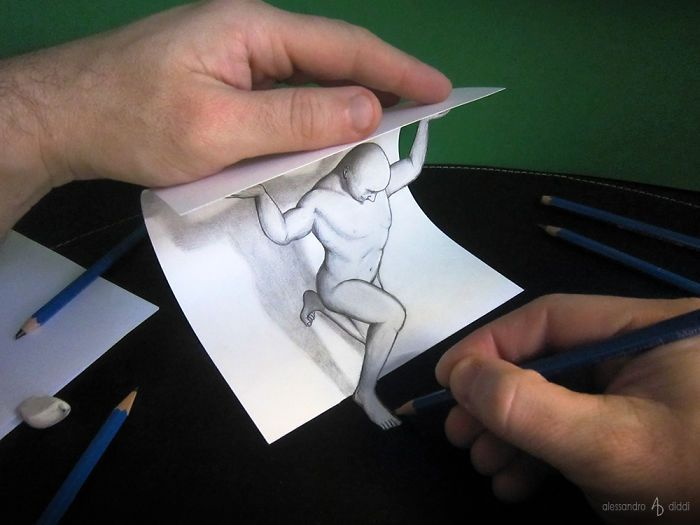 700x525 Italian Artist Brings His 3d Drawings To Life By Making Them Leap