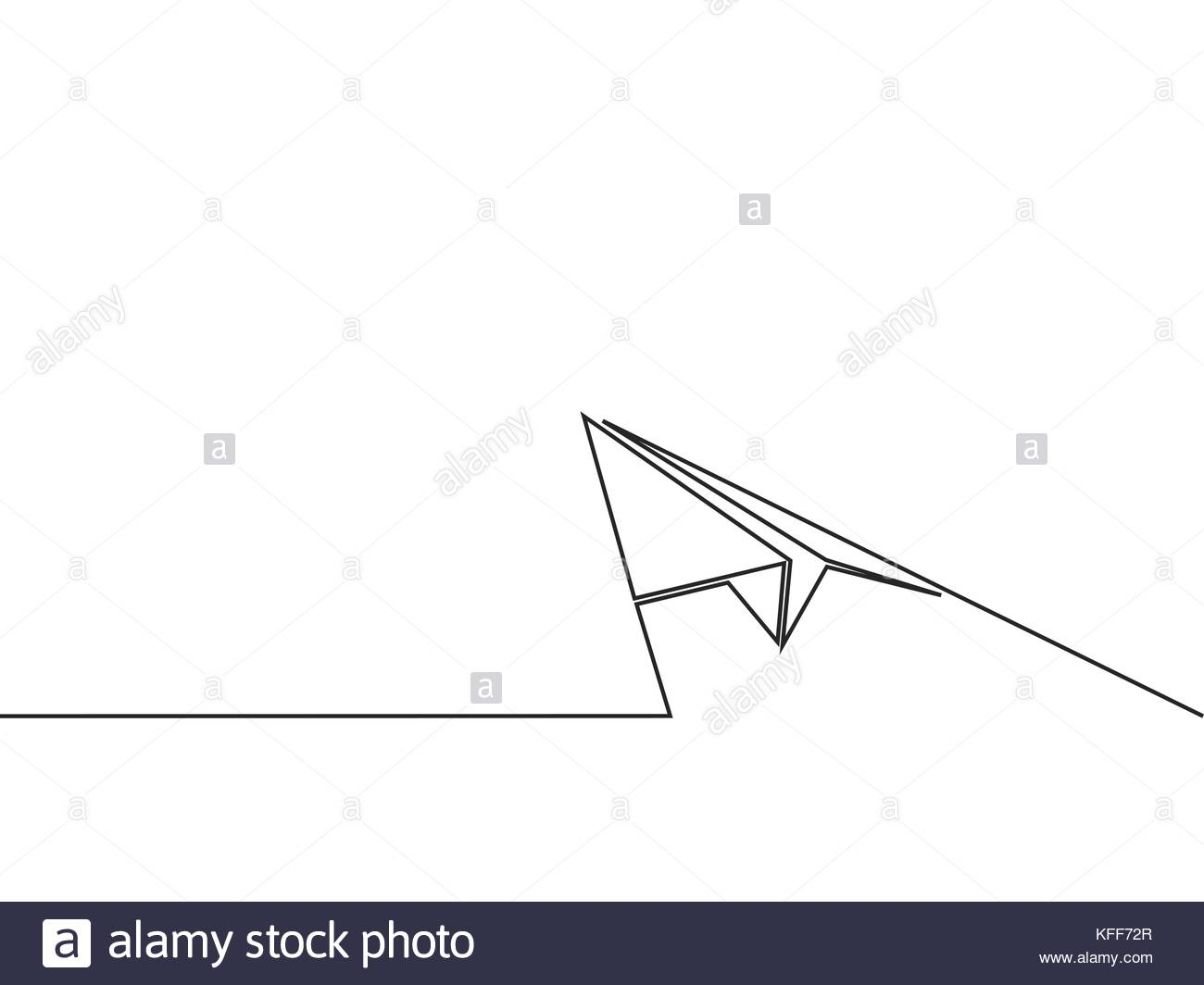 Simple Continuous Line Art : Paper airplane drawing at getdrawings.com free for personal use