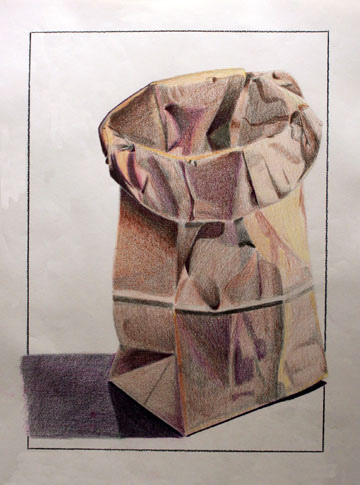360x485 Paper Bag Drawing Bag, Coloured Pencils And Draw