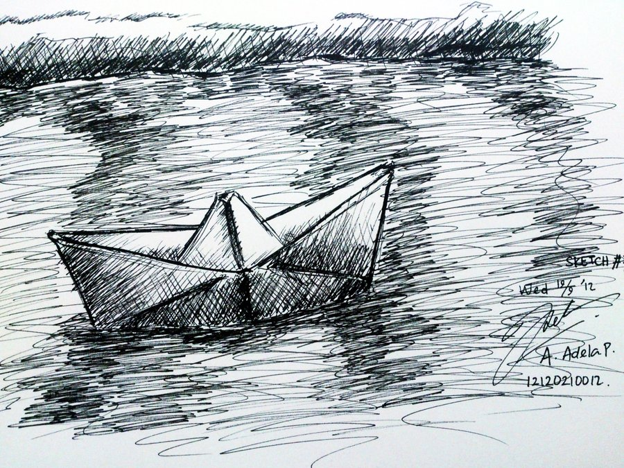 Paper boat drawing at getdrawings free for personal use paper 900x675 sketch7 perahu kertas paper boat by adela1015 on deviantart malvernweather Images