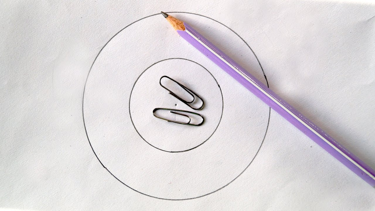 1280x720 How To Draw A Perfect Circle Using Paper Clips