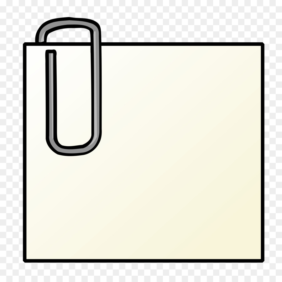 900x900 Paper Clip Drawing Pin Clip Art