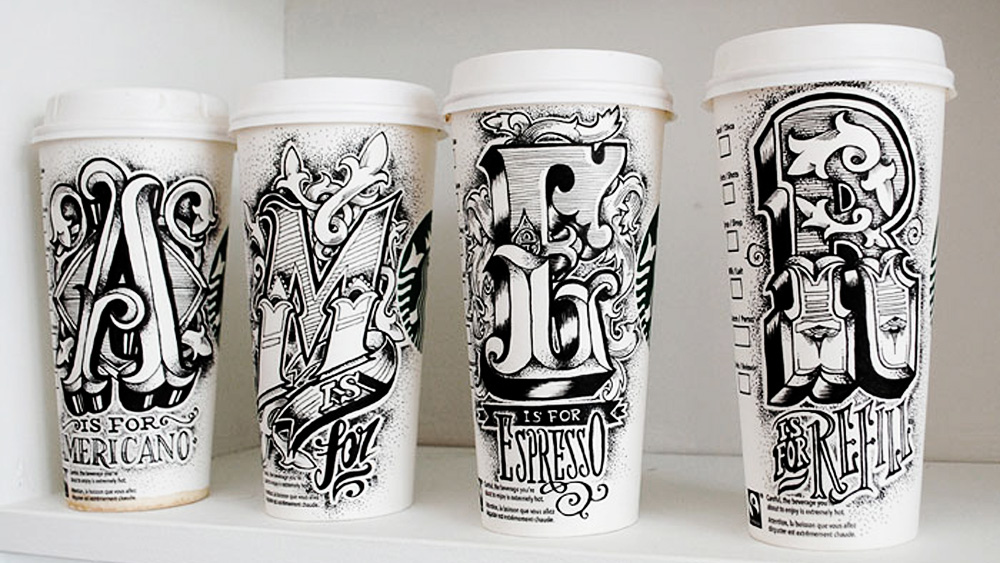 1000x563 Coffee Cups Hand Drawing Lettering Art By Rob Draper Stampede