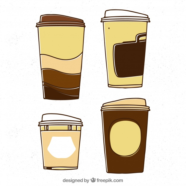 626x626 Hand Drawn Paper Coffee Cup Vector Free Download