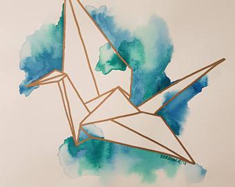 340x270 Paper Crane Etsy