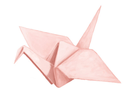 512x384 Origami Crane