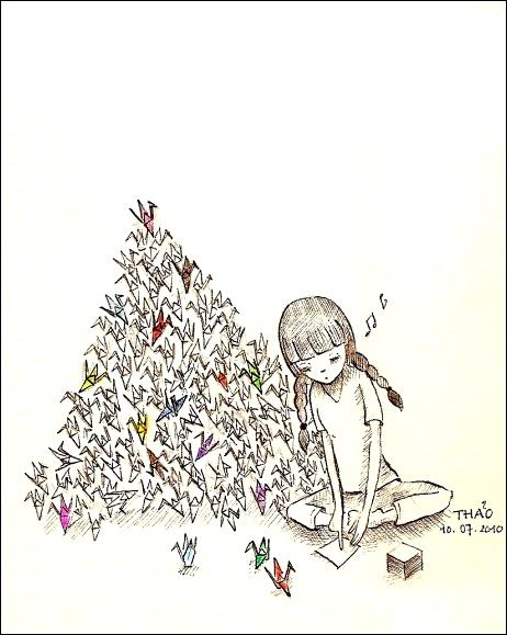 462x579 Silent Sn@il Thousand Paper Cranes