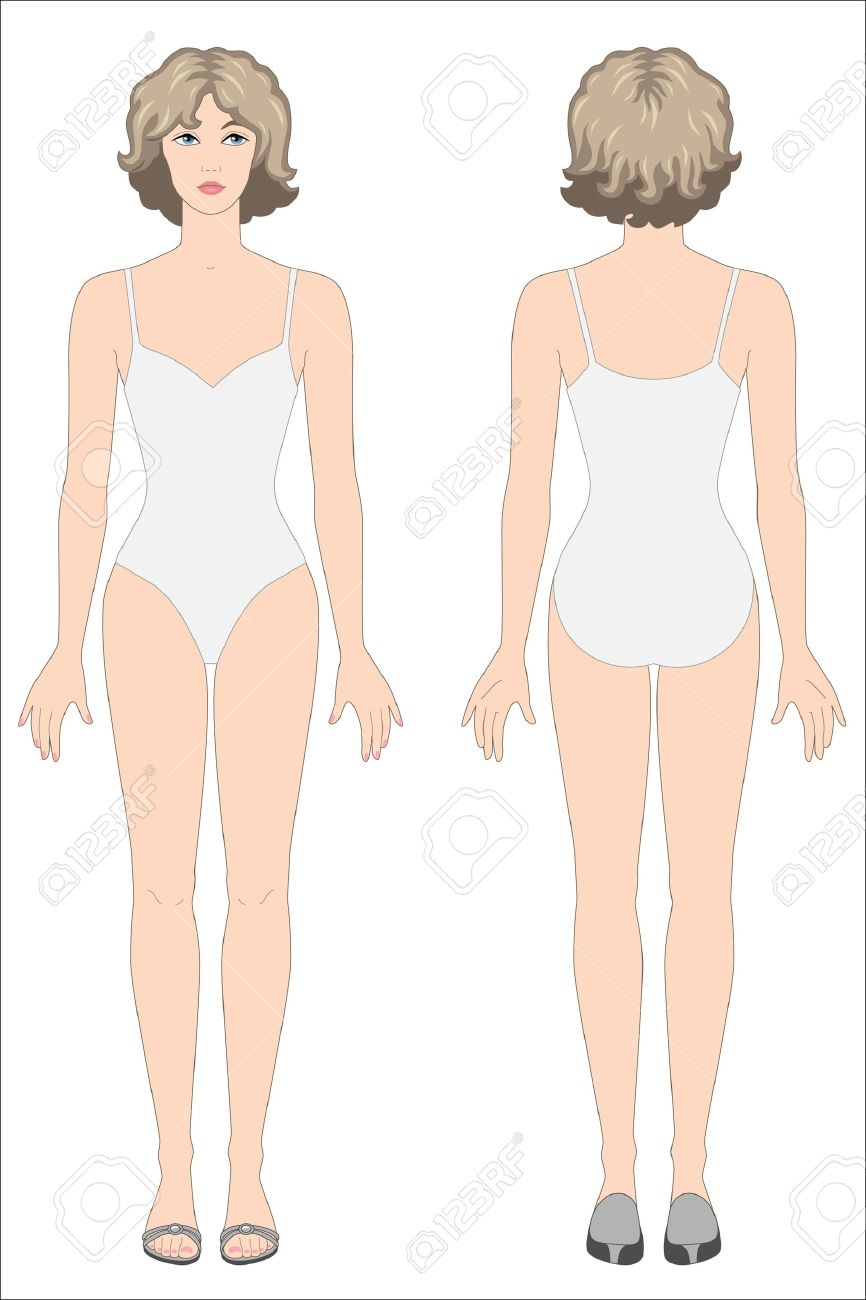 866x1300 Double Sided Paper Doll Drawing Styles Of Clothes Royalty Free