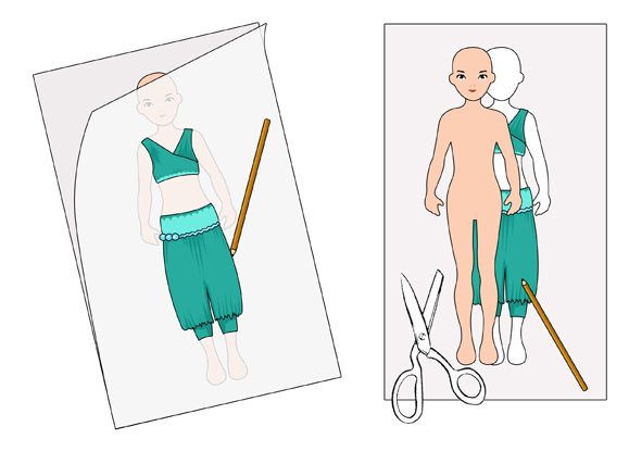 579x427 How To Draw A Paper Doll 12 Steps (With Pictures)