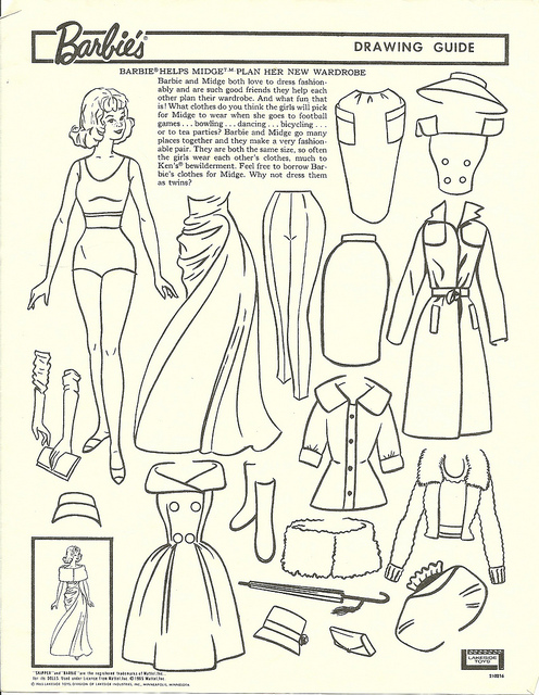 496x640 Midge Free Paper, Dolls And Barbie