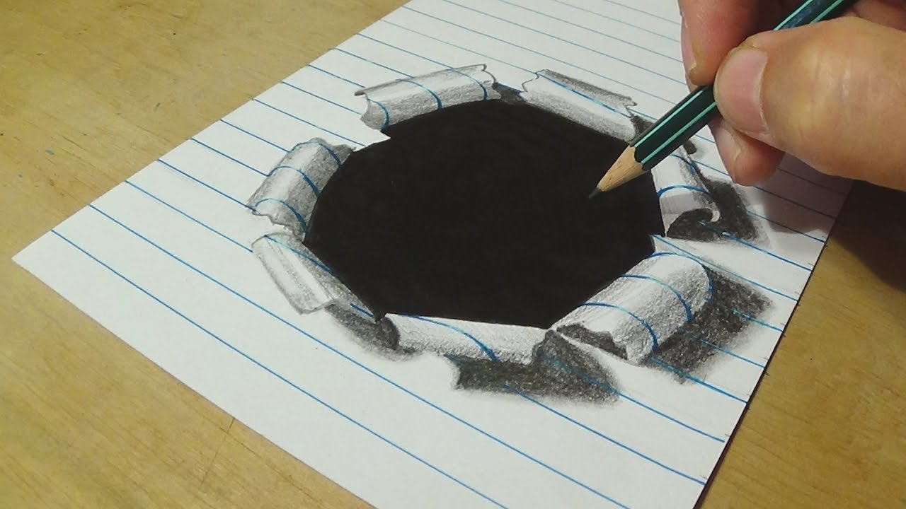 1280x720 How To Draw Hole Paper